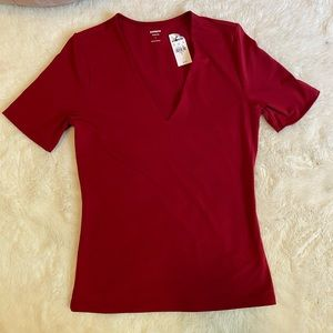 3/$12 New W Tags Express Red Fitted Tee Top sz S
